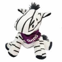 Kuscheltier Zebra schwarz / weiß 16,5cm mit Namen am Halstuch - Personalisierte Schmusetiere für Jungen und Mädchen  Bild 2