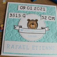 """Individualisierbare Glückwunschkarte zur Geburt """"Tierbabys"""" aus der Manufaktur Karla Bild 5"""