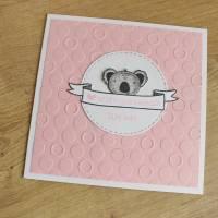 """Individualisierbare Glückwunschkarte zur Geburt """"Tierbabys"""" aus der Manufaktur Karla Bild 7"""