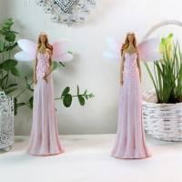 Frühlingselfe, Frühlingsdeko, Figur, rosa, mittel, stehend, Floristikdeko Bild 1