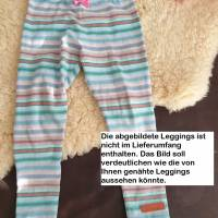 Rundum-sorglos Nähset Leggings Miriam, limegrüner Jersey mit weißen Wolken, diverse Größen, DIY Paket Bild 10
