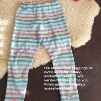 Rundum-sorglos Nähset Leggings Miriam, limegrüner Jersey mit weißen Wolken, diverse Größen, DIY Paket Bild 3