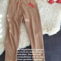 Rundum-sorglos Nähset Leggings Miriam, limegrüner Jersey mit weißen Wolken, diverse Größen, DIY Paket Bild 6
