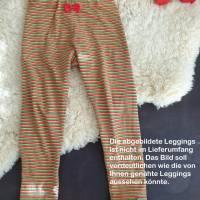 Rundum-sorglos Nähset Leggings Miriam, limegrüner Jersey mit weißen Wolken, diverse Größen, DIY Paket Bild 7
