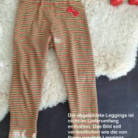 Rundum-sorglos Nähset Leggings Miriam, limegrüner Jersey mit weißen Wolken, diverse Größen, DIY Paket Bild 8