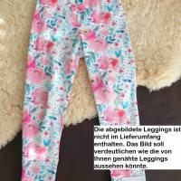Rundum-sorglos Nähset Leggings Miriam, limegrüner Jersey mit weißen Wolken, diverse Größen, DIY Paket Bild 9