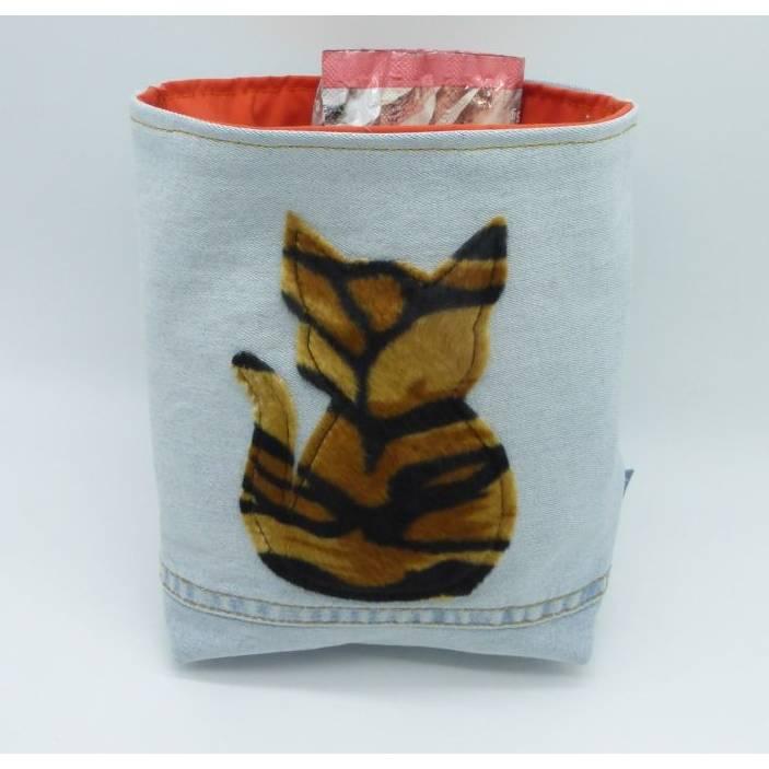 Utensilo 'Tigerkatze', wetbag, Unikat hessmade Bild 1