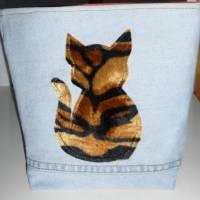 Utensilo 'Tigerkatze', wetbag, Unikat hessmade Bild 8