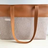 Schultertasche, Handtasche, Shopper Bild 1