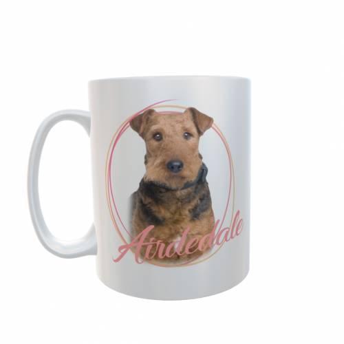 Tassen mit Hundemotiv Airdedale