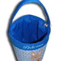 Besticktes Osterkörbchen mit Namen Ostertasche Osternest Tasche Kinder Stofftasche Utensilo Geschenktasche  Bild 3