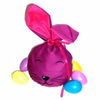 Bunny Bag Gr. L, Lila mit Wunschname - Beutel für Ostergeschenke - Geschenkverpackung - Geschenkbeutel - Ostern Bild 1