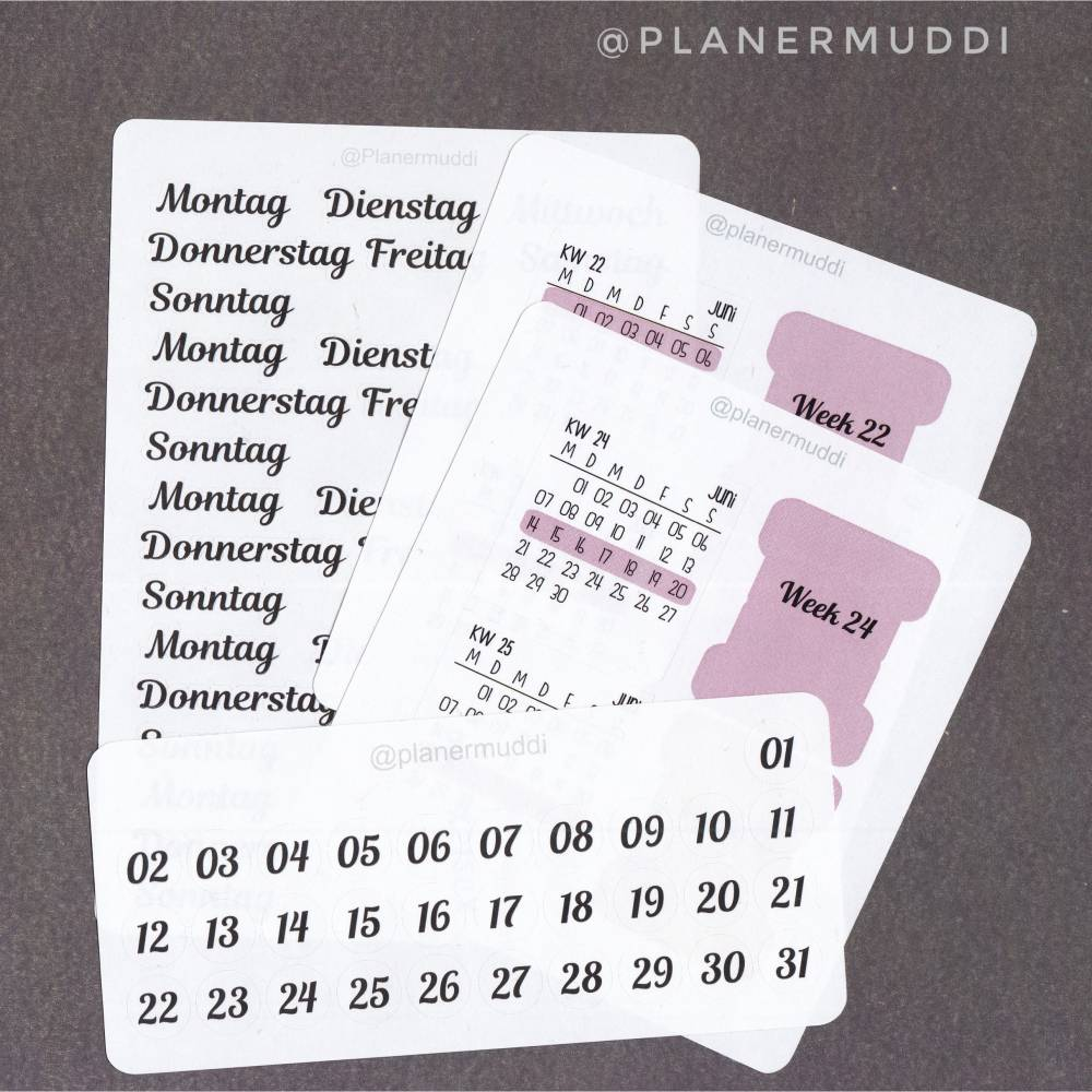 Planersticker-Set Juni M Bild 1