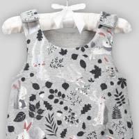 Baby Strampler Hase Metalic mit Druckknöpfen Bild 3