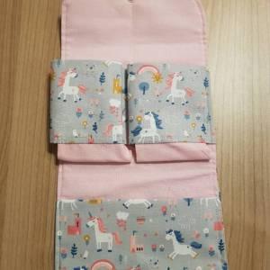 Etui / Tasche für Spielkarten, zB Rommee, Solo, Phase 10,  aus Baumwolle, Handarbeit Bild 2