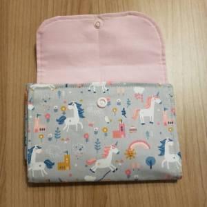 Etui / Tasche für Spielkarten, zB Rommee, Solo, Phase 10,  aus Baumwolle, Handarbeit Bild 3