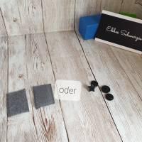 Rundum-sorglos Nähset Halstuch, dunkelblauer Tripplegauze und hellgrauer Doublegauze, DIY Paket Bild 7