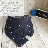 Rundum-sorglos Nähset Halstuch, dunkelblauer Tripplegauze und hellgrauer Doublegauze, DIY Paket Bild 8