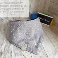 Rundum-sorglos Nähset Halstuch, dunkelblauer Tripplegauze und hellgrauer Doublegauze, DIY Paket Bild 9