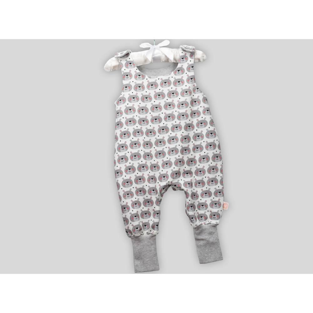 Baby Strampler Bär mit Druckknöpfen Bild 1