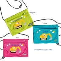 MissRompy | Brustbeutel Bagger (838) Umhängebeutel breast bag Wunschname Klarsichtfach für Busfahrkarte Geldbeutel  Bild 2