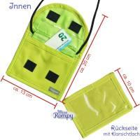 MissRompy | Brustbeutel Bagger (838) Umhängebeutel breast bag Wunschname Klarsichtfach für Busfahrkarte Geldbeutel  Bild 3