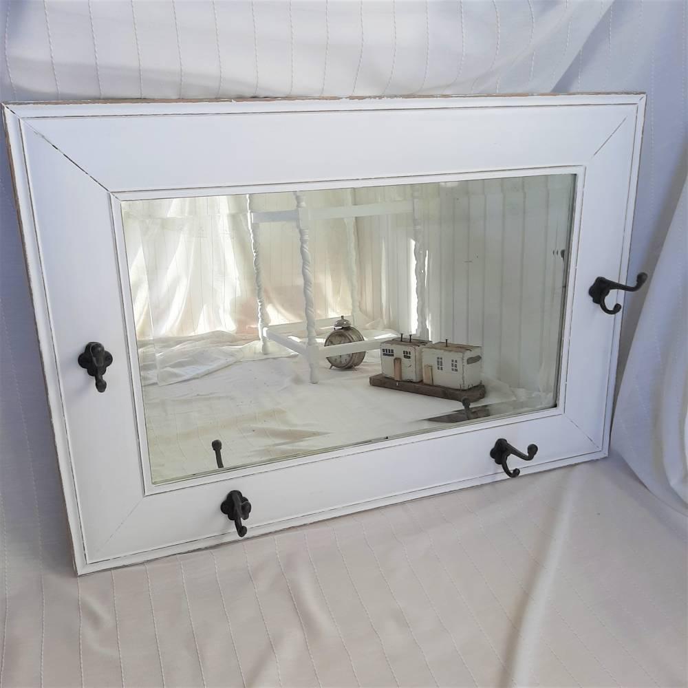 Wunderschöner weißer Spiegel mit Charme Shabby Bild 1