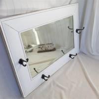 Wunderschöner weißer Spiegel mit Charme Shabby Bild 5