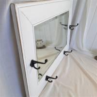 Wunderschöner weißer Spiegel mit Charme Shabby Bild 8