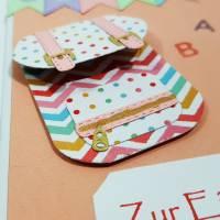 Einschulung Grußkarte Schultasche ABC Glückwunschkarte Bild 2