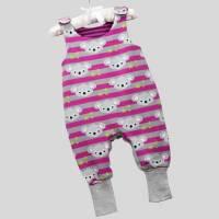Strampler Koalabär Pink mit Druckknöpfen Bild 1