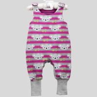 Strampler Koalabär Pink mit Druckknöpfen Bild 3