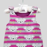 Strampler Koalabär Pink mit Druckknöpfen Bild 4