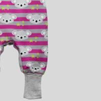 Strampler Koalabär Pink mit Druckknöpfen Bild 5