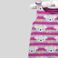 Strampler Koalabär Pink mit Druckknöpfen Bild 6