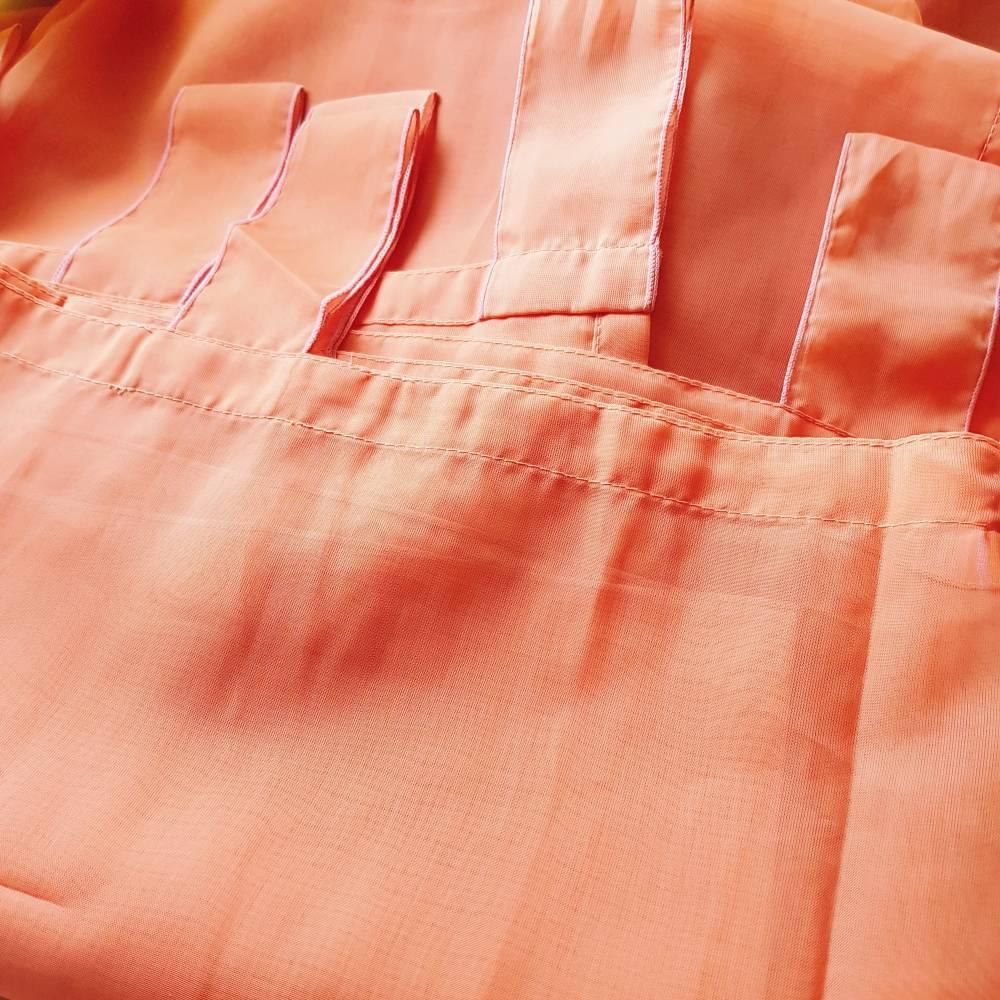 Vintage, Schlaufengardine orange uni 144 x 212 cm, stores, neuwertig Bild 1