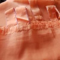 Vintage, Schlaufengardine orange uni 144 x 212 cm, stores, neuwertig Bild 2