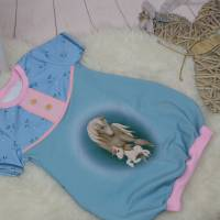 Gr.110 Ballontunika, Sommerkleid, Ballonkleid, verspieltes Sommerkleid, kurzärmliges Kleid, Größe 110 Bild 2