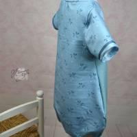 Gr.110 Ballontunika, Sommerkleid, Ballonkleid, verspieltes Sommerkleid, kurzärmliges Kleid, Größe 110 Bild 8