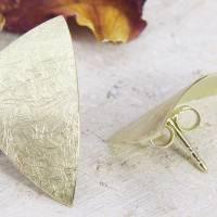 Ohrstecker Gold 585/-, großes ungleiches Dreieck, mattgekratzt Bild 5