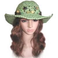 Damen Sonnenhut Sommerhut *Safari* Gr. S 55 cm Kopfumfang mit Papiergarn gehäkelt Bild 1