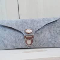 Krimskram Täschchen aus Filz-grau Bild 1