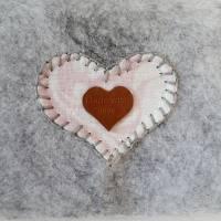 Krimskram Täschchen aus Filz-grau Bild 4