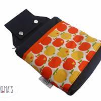 Gürteltasche, Kellnertasche, Hüfttasche Wallaby, Canvas grau orange gelb Äpfel Bild 1