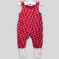 Baby Strampler Anker Rot mit Druckknöpfen Bild 3