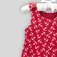 Baby Strampler Anker Rot mit Druckknöpfen Bild 7