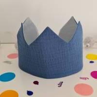 Geburtstagskrone aus Musselin und Baumwolle Bild 1
