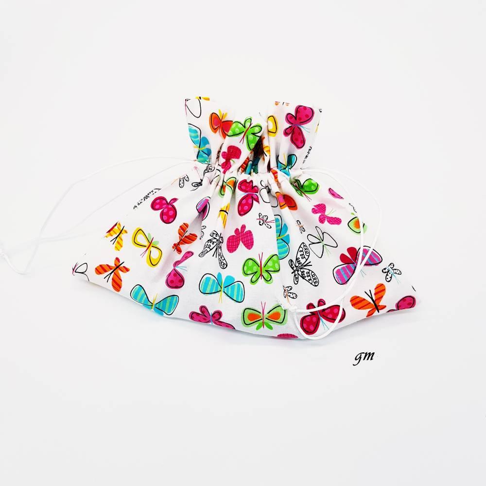 Süßer Geschenkbeutel mit Schmetterlingen Frühling, Ostern, b 30 x h 21 cm Bild 1