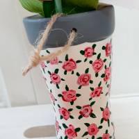 Gummistiefel-Blumentopf aus Keramik-handbemalt Bild 3