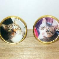 Manschettenknöpfe 16mm gold/vergoldet mit Text, Foto oder Motiv, personalisiert Bild 8